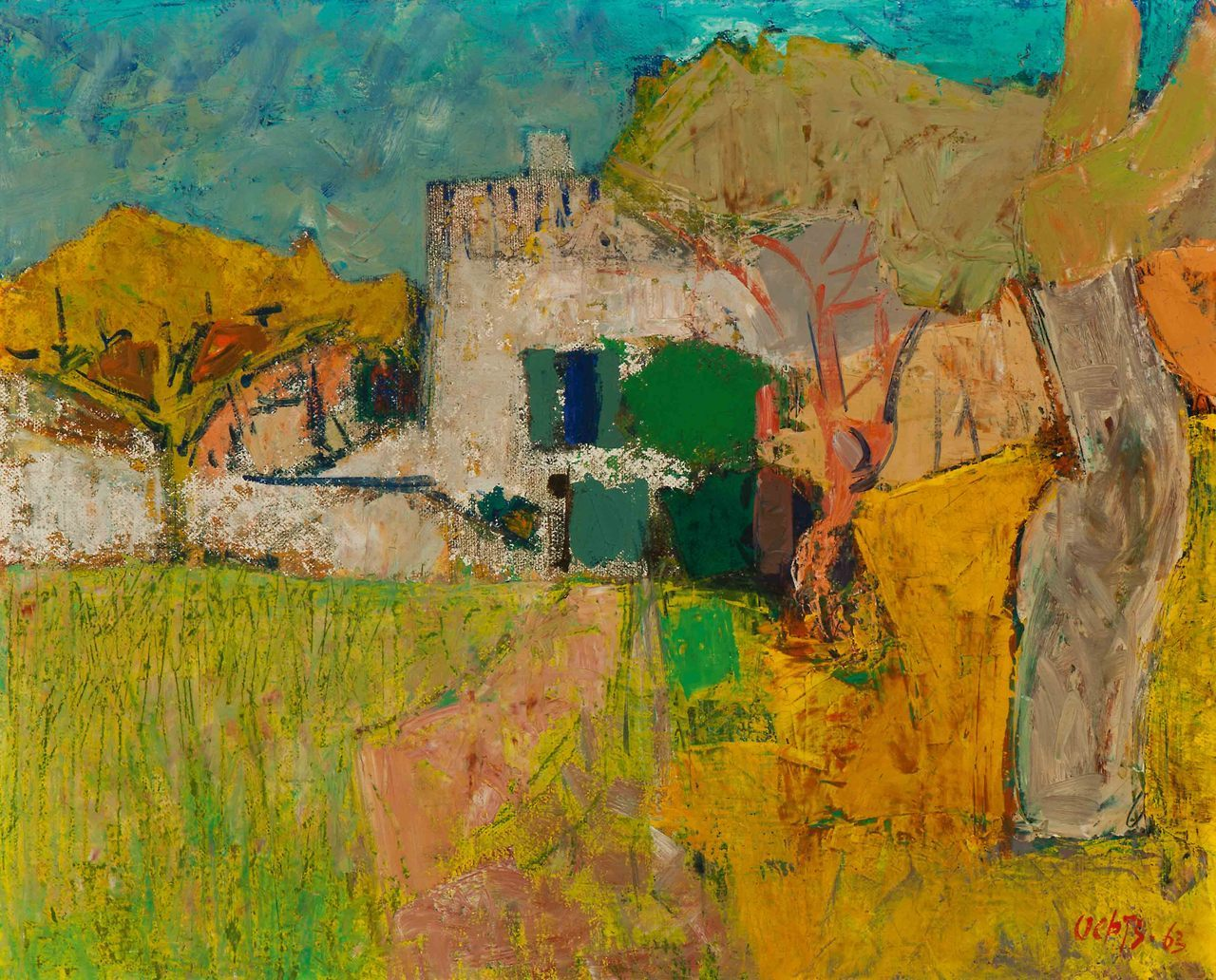 """amare-habeo: """" Wim Oepts (Dutch, 1904 - 1988) Provence, 1963 Oil on canvas, 33 x 41 cm """""""