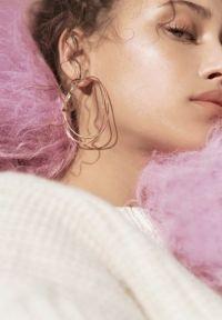 gold hoop earrings on Tumblr
