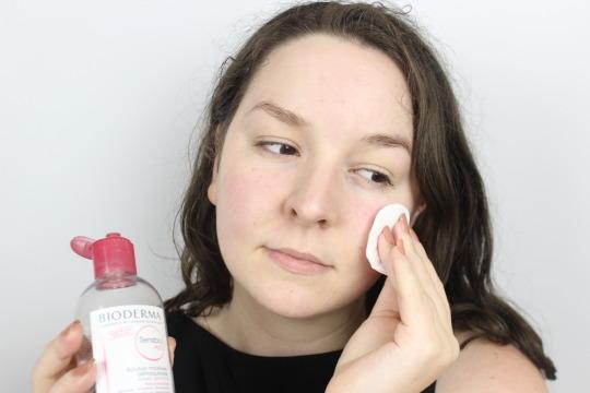 Bioderma Sensibio h2o Micellar Water Dry Sensitive Skin Makeup Tips
