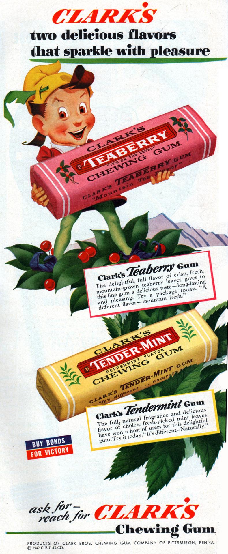 Clark's Chewing Gum - 1942