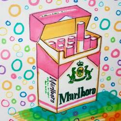 Marlboro time, but only if it's from a pink packet #illustration #journal #perthcreatives #perthartist #pencildrawing #inkdrawing #artworks #artsy #art #doodle #journal #fluro #patterns #80s #90s #popart #popperth #draw #inkpen #doodlesofinstagram #cartoon #cigarette #smoker