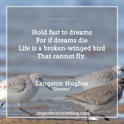 """#96 - Langston Hughes, born on this day in 1902, on dreams:""""Hold fast to dreams For if dreams dieLife is a broken-winged birdThat cannot fly.Hold fast to dreamsFor when dreams goLife is a barren fieldFrozen with snow.""""-Langston Hughes (""""Dreams"""")https://www.poets.org/poetsorg/poem/dreams"""