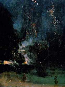 jamesusilljournal:  Nocturnein Black and Gold: The Falling Rocket, James McNeill Whistler, 1875