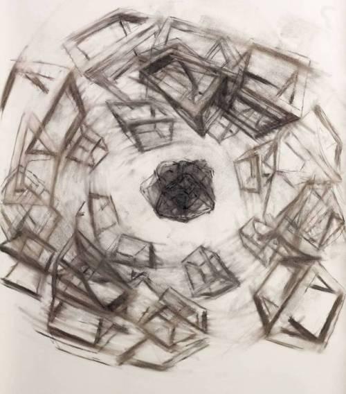 Fluor, #Charcoal, #2017 100x70cm, #drawing #instaart #grid #contemporaryart #peinture #fineart #berlinart #christophkern #malerei #contemporaryfineart