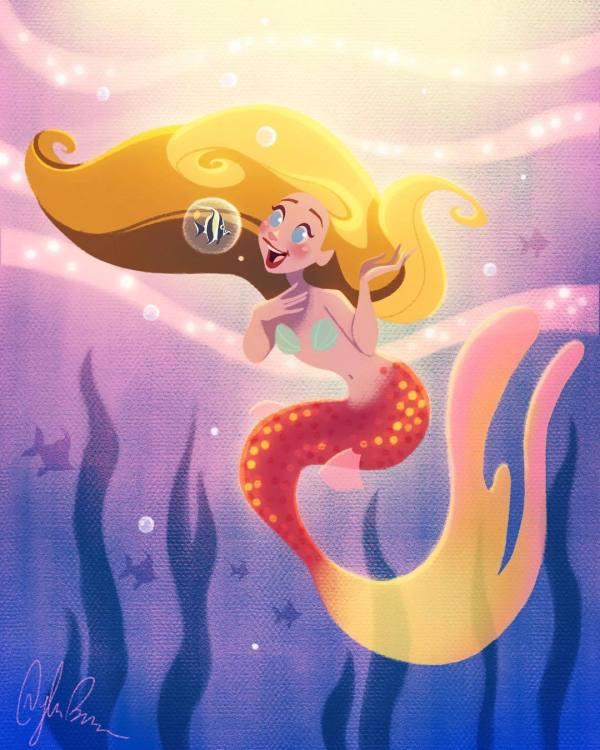 Dylan Bonner Mermaid Art