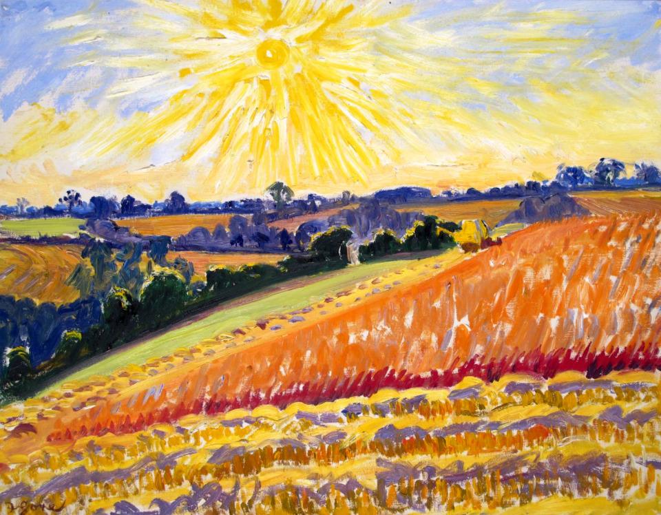"bofransson: "" FREDERICK GORE C.B.E., R.A. (1913-2009) No. 5 Harvest Dust Meopham """