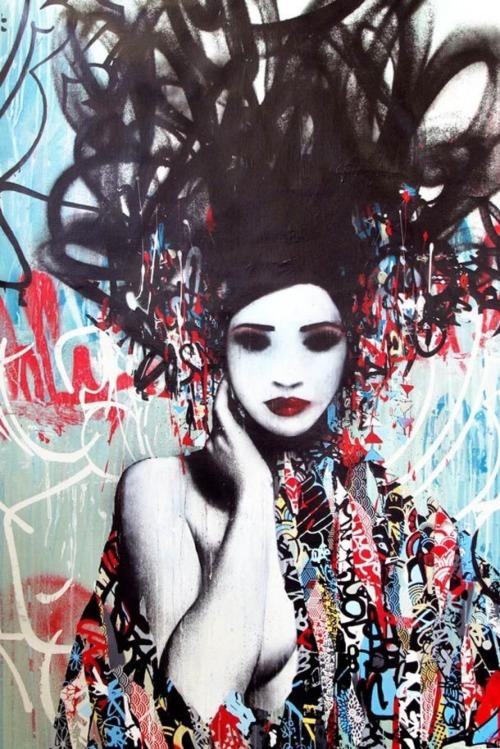 miss-mandy-m:Street art by London-based artist Hush