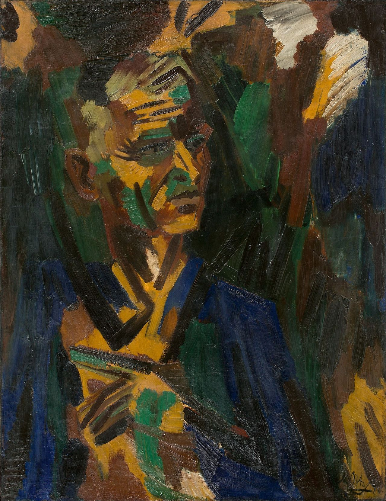 "amare-habeo: "" Ernst Wilhelm Nay (German, 1902 – 1968) Self-portrait, 1940 Oil on canvas, 105 × 80,5 cm """