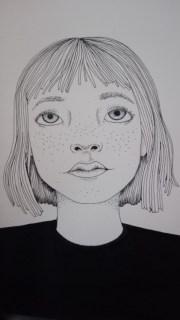 grunge girl drawing