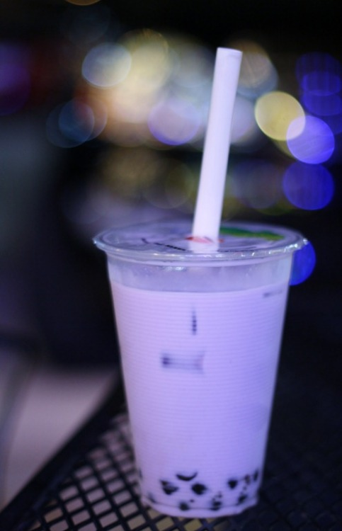 taro bubble tea on Tumblr
