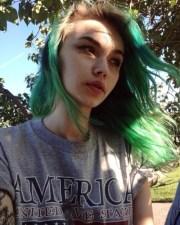 pale green hair