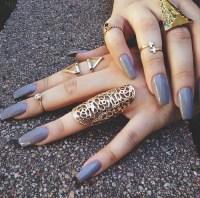 grey nails on Tumblr