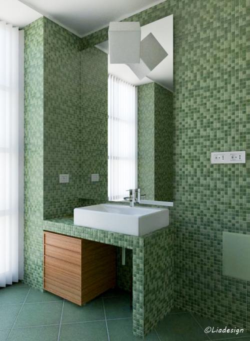 Lia design  Bagno  Verde salvia un colore rilassante e