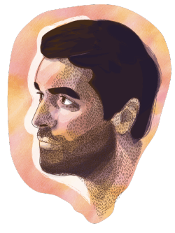 Doodling with Illustrator… Here's a portrait of the talented (and handsome) Benoit Lefevre