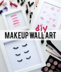 True Blue Me & You: DIYs for Creatives  DIY Makeup Wall ...