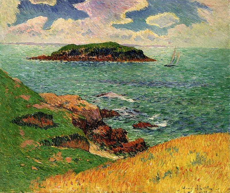 """terminusantequem:""""Henry Moret (French, 1856-1913), Port Louis, France, 1895. Oil on canvas, 54 x 65.4 cm"""""""