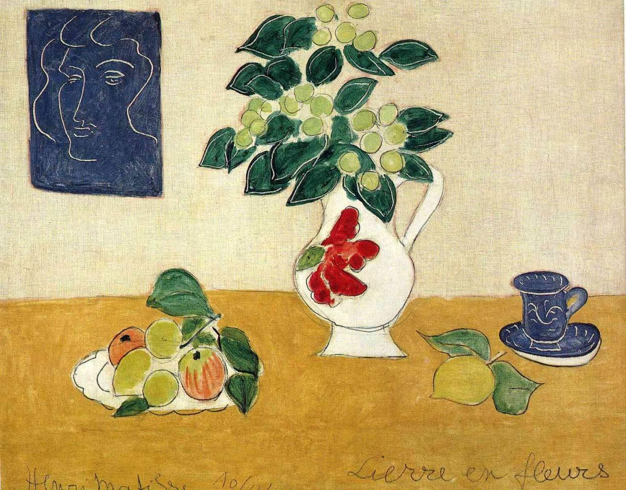 """artist-matisse: """" Ivy in Flower by Henri Matisse Size: 73x92 cm Medium: oil on canvas"""""""