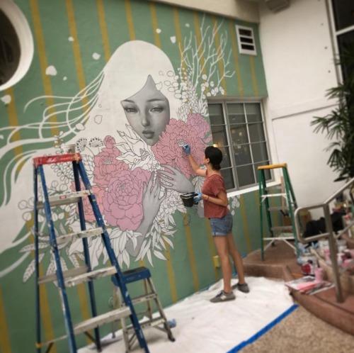 hiplillady:  Audrey Kawasaki, Miami Art Baselfacebook.com / Audrey Kawasaki