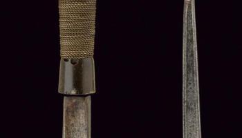 Mandau or Parang Ilang Sword, Iban Dayak People, Borneo, 19th