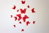MyDreamDecors  Red wall art, Red and black, Butterfly ...