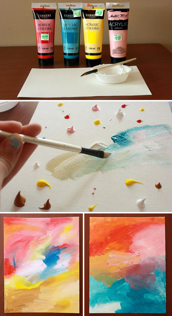 Do It Yourself Projects : DIY abstract painting
