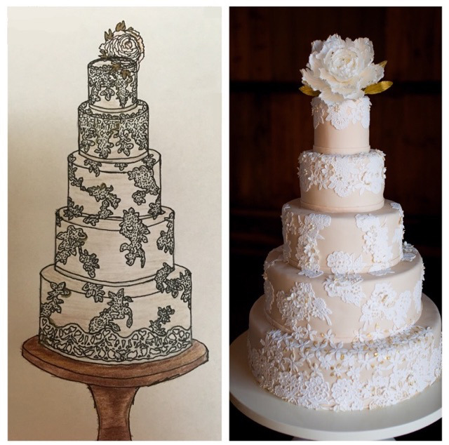 Lace Wedding Cake I Sugar Flower Wedding Cake I Champagne and Lace Wedding Cake   #mischiefmakercakes #themischiefmaker #bemischievious  #kentuckyweddingcake #laceweddingcakes #laceweddingcake