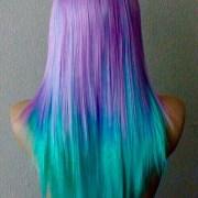 blue pink purple hair