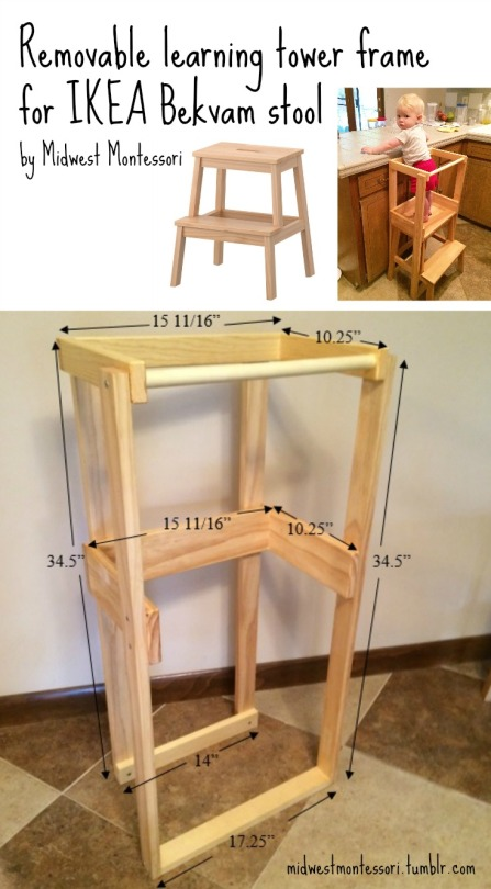 Midwest Montessori Our DIY IKEA Bekvam Learning Tower