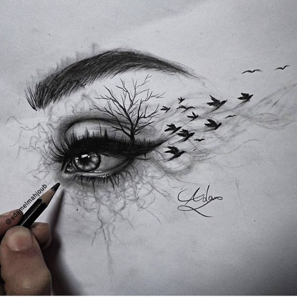 Artmaniacs Creative Eyes Drawings Adamelmahjoub Follow