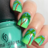 palm tree nail designs | Tumblr