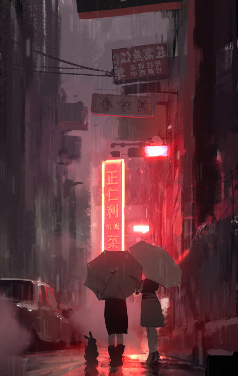 Animated Lonely Girl Wallpapers Anime Rain Tumblr