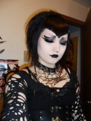 teased goth hair