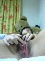 japanese girl wet pink virgin hairy pussy selfies 3