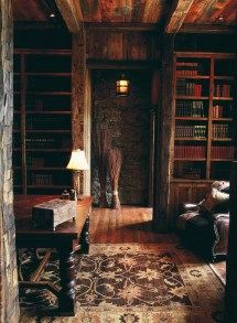 Rustic Home Library