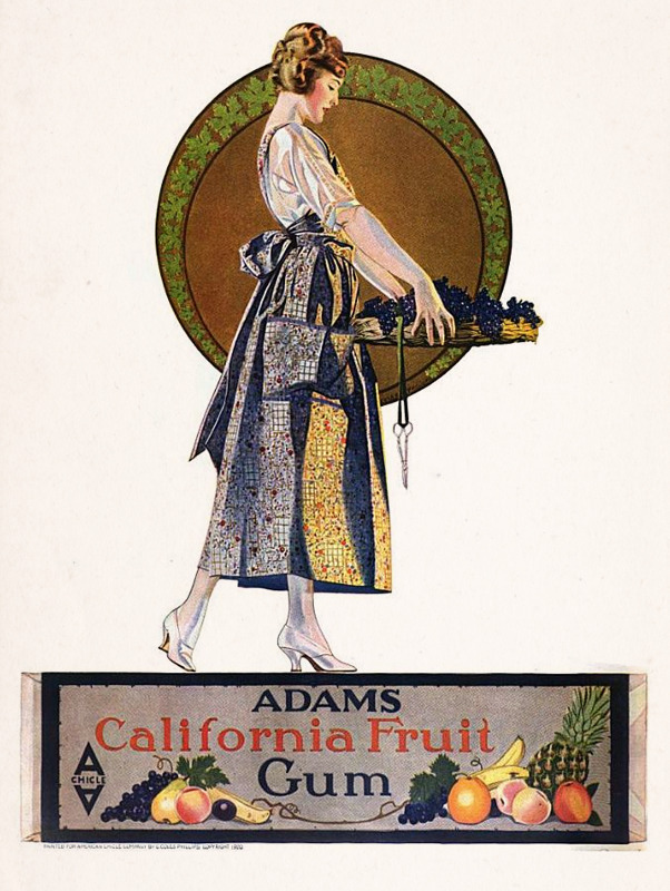 Adams California Fruit Gum - 1921
