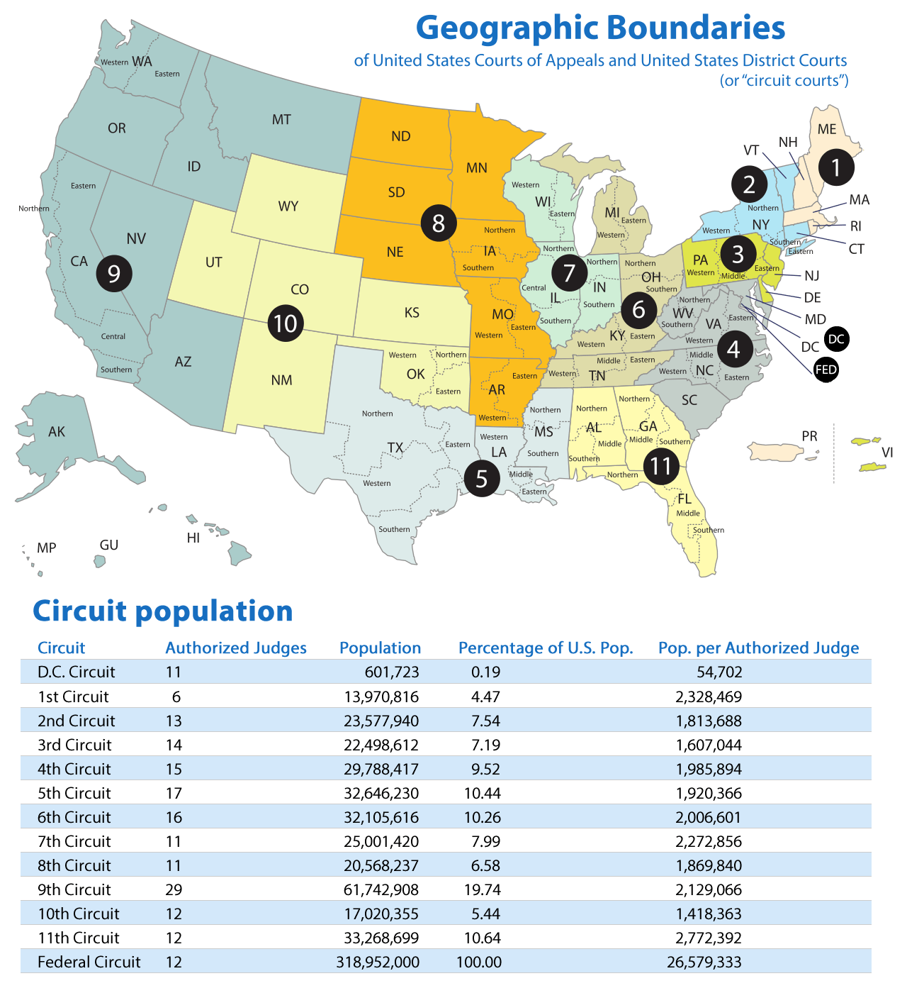 Sunlight Cities Mapsontheweb Map Of Us Circuit Courts The
