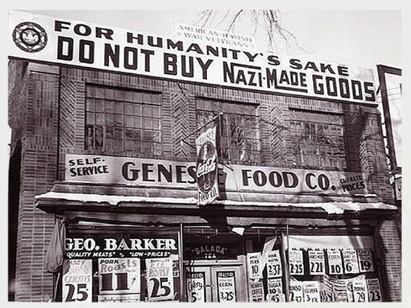 Anti Nazi Boycott Of Stores In America 1933 Via Reddit