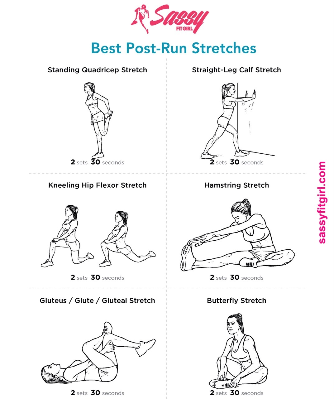 Best Post-Run Stretches Stretching after a run is