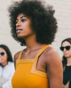 solangeit:Yellow reflects so beautifully off of her