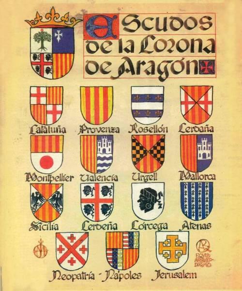 Resultado de imagen de escudos corona de aragon