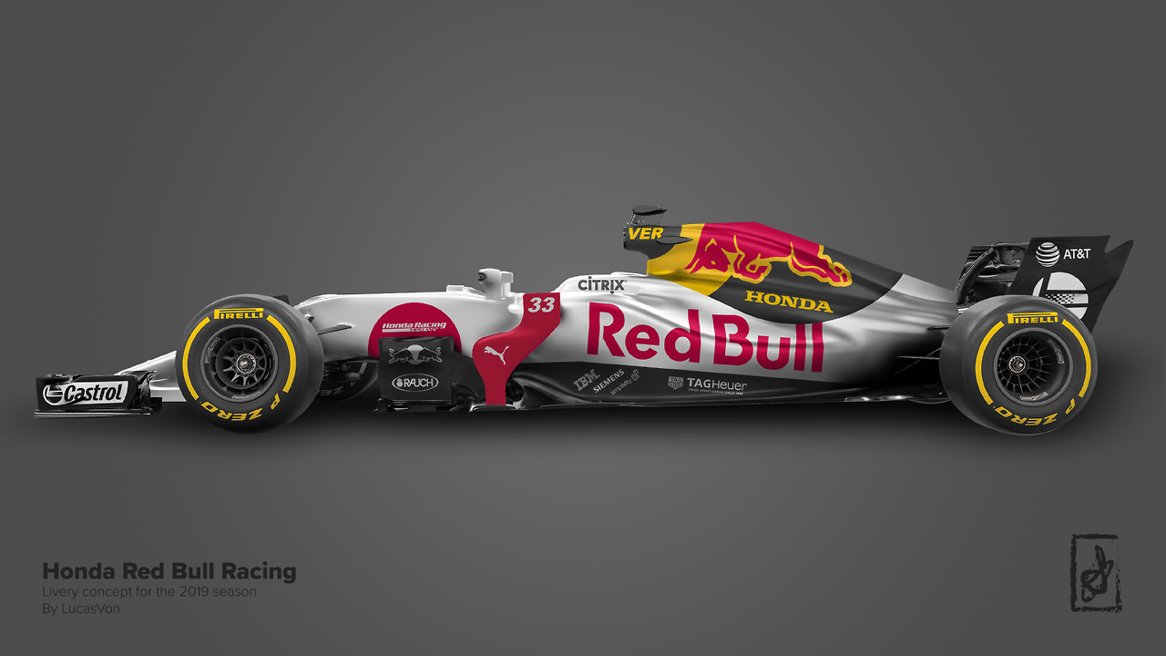 honda red bull racing 2019 livery concept formula 1. Black Bedroom Furniture Sets. Home Design Ideas