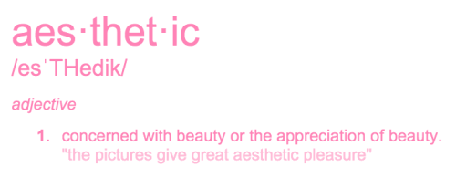 aesthetic word definitions tumblr
