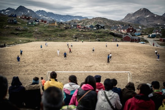 Around the world in 50 football pitches