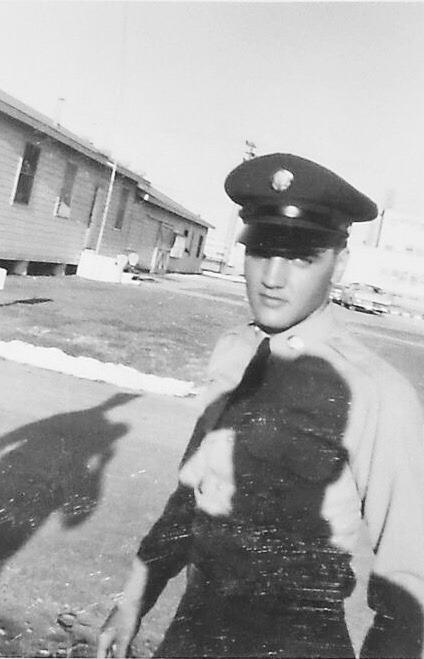 Elvis Presley at Fort Hood in Texas, May 4, 1958.
