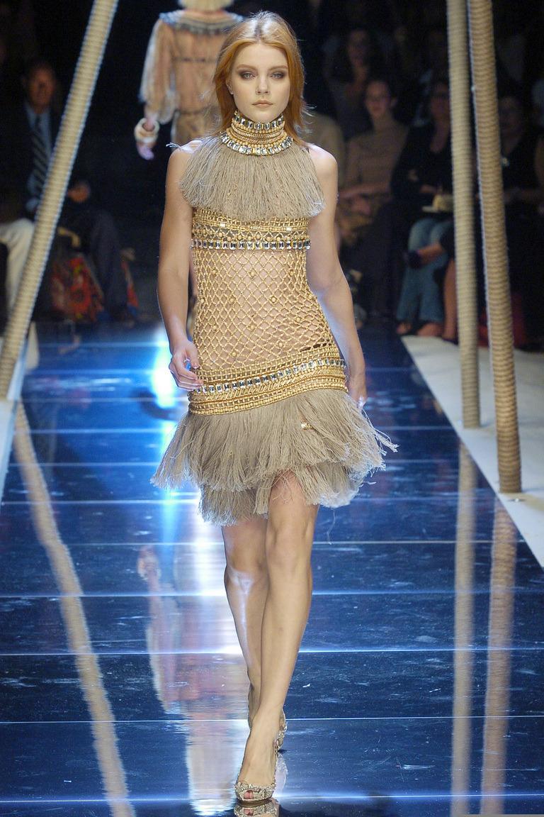 lelaid:Jessica Stam at Dolce & Gabbana S/S 2005
