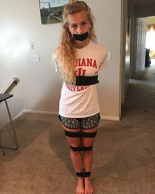 cute girl tied up tumblr