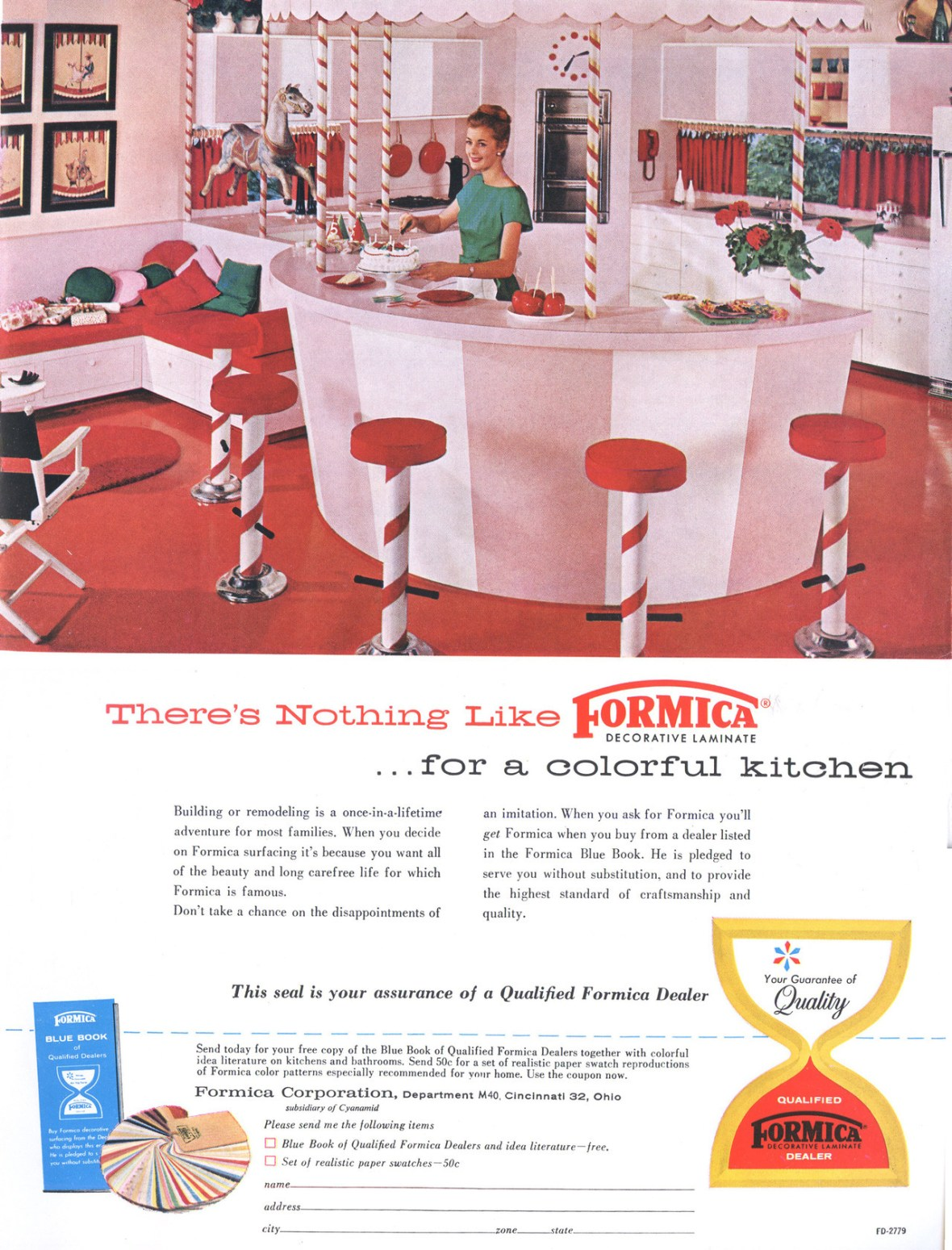 Formica Corporation - published in House Beautiful's Building Manual - Fall-Winter 1961-62
