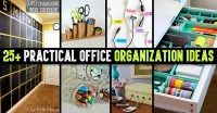 Cute DIY Projects  25+ Practical Office Organization