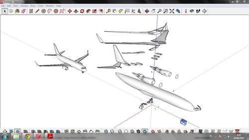 ARTON PAPERMODELS — Boeing 737-800 Paper model 1/100