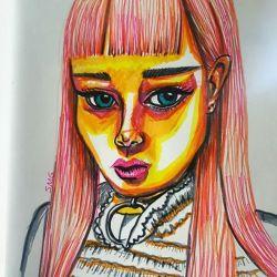 #doodles #artwork #art #illustration #portrait #sketch #onesketchaday #journal #illustration #comic #cartoon #draw #inkpen #inkdrawing #arty #perthartist #perthcreatives #perthy #naiveart #cuteart